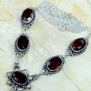 Gr 0166b collier parure sautoir grenat bijoux argent 925 achat vente bijou