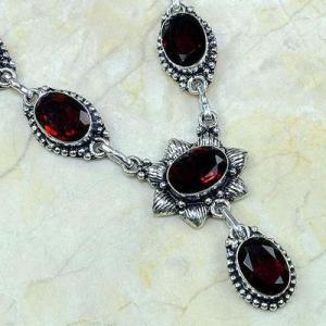 Gr 0166c collier parure sautoir grenat bijoux argent 925 achat vente bijou