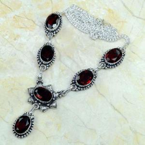 Gr 0166d collier parure sautoir grenat bijoux argent 925 achat vente bijou