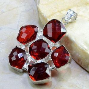 Gr 0169a pendant pendentif grenat garnet pierre gemme argent 925 achat vente bijou