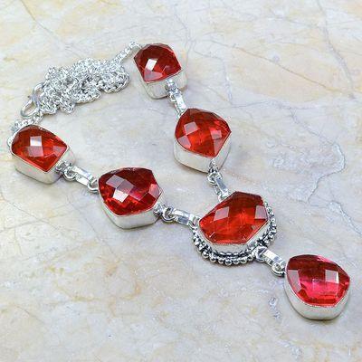 Gr 0171a collier parure sautoir grenat bijoux argent 925 achat vente bijou