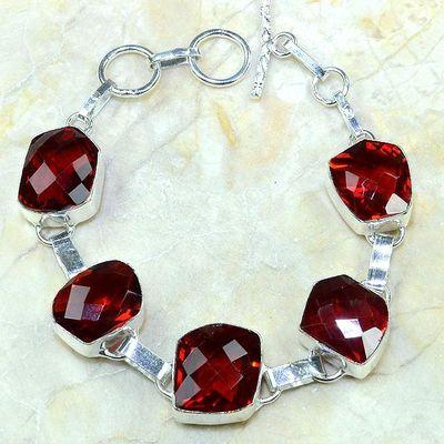 Gr 0173a bracelet grenat garnet argent 925 achat vente bijou