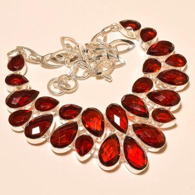 Gr 0177a collier parure sautoir grenat mozambique bijoux argent 925 achat vente bijou
