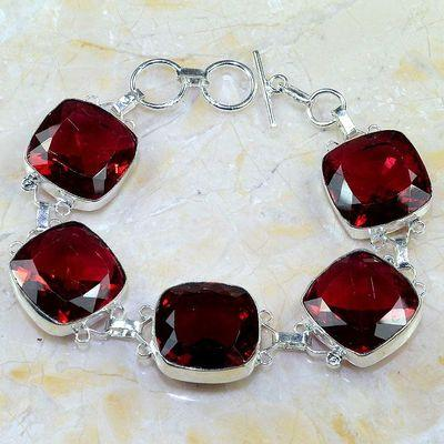 Gr 0182a bracelet grenat garnet lithotherapi gemme argent 925 achat vente bijou
