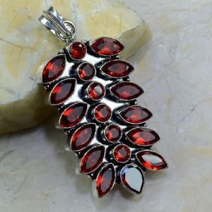 Gr 0183a pendant pendentif grenat garnet pierre gemme argent 925 achat vente bijou