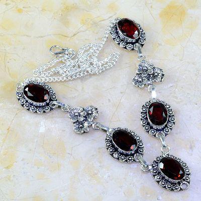 Gr 0189a collier parure sautoir grenat mozambique bijoux argent 925 achat vente bijou