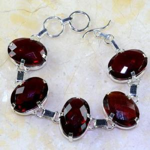 Gr 0194a bracelet grenat garnet lithotherapi gemme argent 925 achat vente bijou