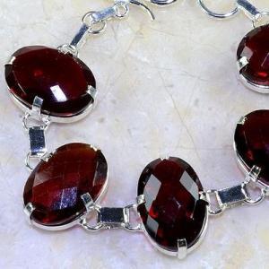 Gr 0194b bracelet grenat garnet lithotherapi gemme argent 925 achat vente bijou