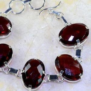 Gr 0194c bracelet grenat garnet lithotherapi gemme argent 925 achat vente bijou