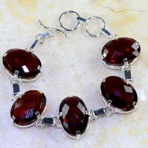 Gr 0194d bracelet grenat garnet lithotherapi gemme argent 925 achat vente bijou