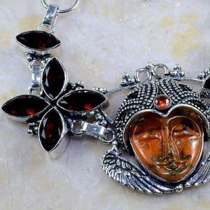 Gr 0199b bracelet grenat garnet bouddha jaspe lithotherapi gemme argent 925 achat vente bijou