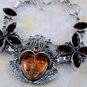 Gr 0199c bracelet grenat garnet bouddha jaspe lithotherapi gemme argent 925 achat vente bijou