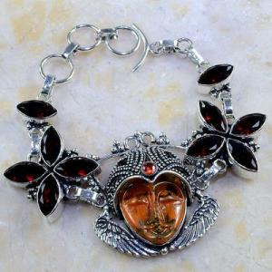 Gr 0199d bracelet grenat garnet bouddha jaspe lithotherapi gemme argent 925 achat vente bijou