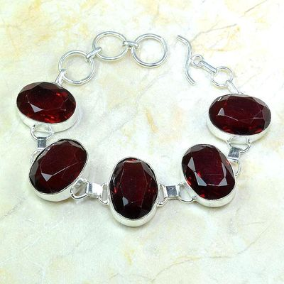 Gr 0204a bracelet grenat garnet lithotherapi gemme argent 925 achat vente bijou