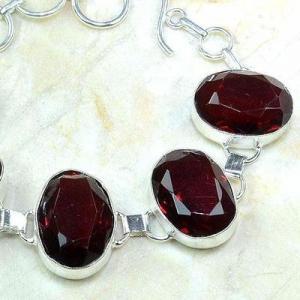 Gr 0204c bracelet grenat garnet lithotherapi gemme argent 925 achat vente bijou