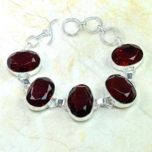 Gr 0204d bracelet grenat garnet lithotherapi gemme argent 925 achat vente bijou