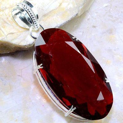 Gr 0207a pendant pendentif grenat garnet pierre lithotherapie gemme argent 925 achat vente bijou