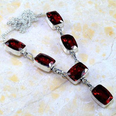 Gr 0209a collier parure sautoir grenat mozambique bijoux argent 925 achat vente bijou