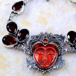 Gr 0302c bracelet grenat garnet bouddha jaspe lithotherapi gemme argent 925 achat vente bijou
