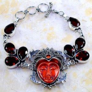 Gr 0302d bracelet grenat garnet bouddha jaspe lithotherapi gemme argent 925 achat vente bijou