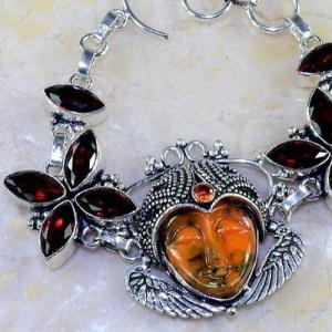 Gr 0303b bracelet grenat garnet bouddha jaspe lithotherapie gemme argent 925 achat vente bijou