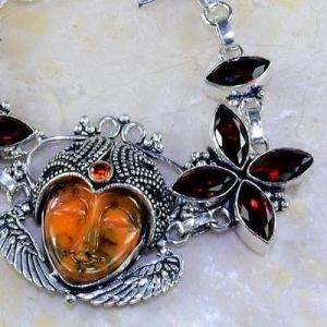 Gr 0303c bracelet grenat garnet bouddha jaspe lithotherapie gemme argent 925 achat vente bijou