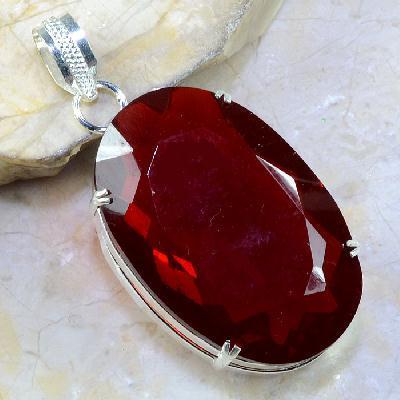 Gr 0306a pendant pendentif grenat garnet pierre lithotherapie gemme argent 925 achat vente bijou