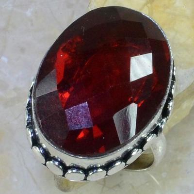 Gr 0414a bague medievale episcopale t61 grenat mozambique bijou argent 925