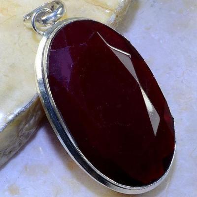 Gr 0428a pendentif pendant grenat garnet pierre lithotherapie gemme argent 925 achat vente bijou
