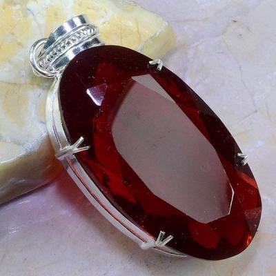 Gr 0429a pendentif pendant grenat garnet pierre lithotherapie gemme argent 925 achat vente bijou