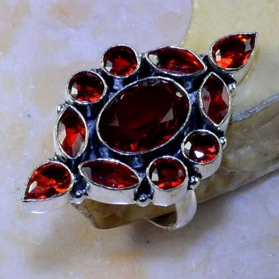 Gr 0442a bague medievale renaissance t59 grenat mozambique bijou argent 925