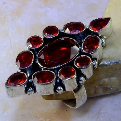 Gr 0449a bague medievale renaissance t57 grenat mozambique bijou argent 925