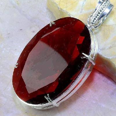 Gr 0450c pendentif pendant grenat perlet pierre lithotherapie gemme argent 925 achat vente bijou