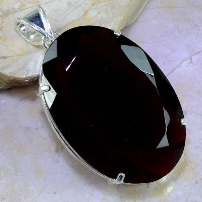 Gr 0462a pendentif pendant grenat garnet pierre lithotherapie argent 925 achat vente bijou