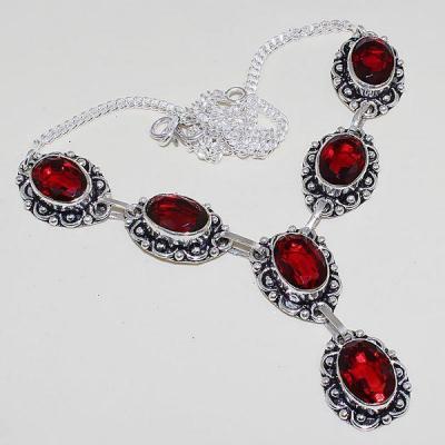 Gr 0471a collier parure sautoir grenat mozambique bijoux argent 925 achat vente bijou