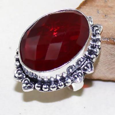 Gr 0490a bague medievale renaissance t54 grenat mozambique bijou argent 925