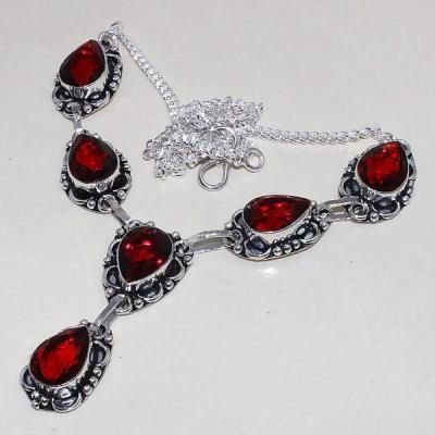 Gr 0497d collier parure sautoir grenat mozambique bijoux argent 925 achat vente bijou
