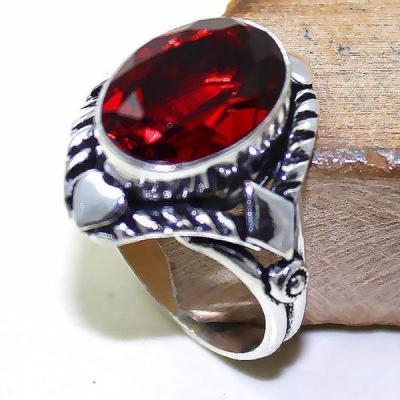 Gr 0504a bague medievale renaissance t58 grenat mozambique bijou argent 925
