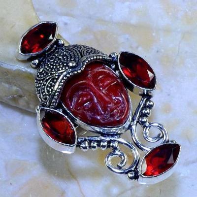 Gr 0525b bague t53 grenat bouddha gothique elfique steampunk vampire argent 925 achat vente bijou
