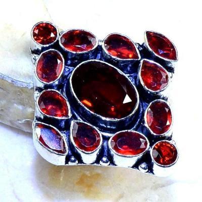 Gr 0527b bague medievale renaissance t55 grenat mozambique bijou argent 925