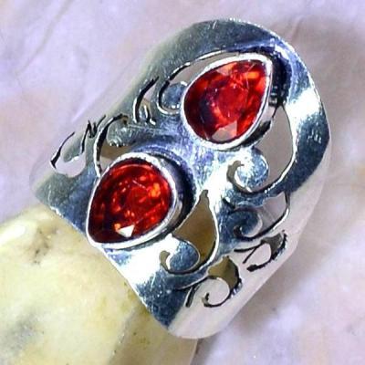 Gr 0530c bague medievale renaissance t55 grenat mozambique bijou argent 925