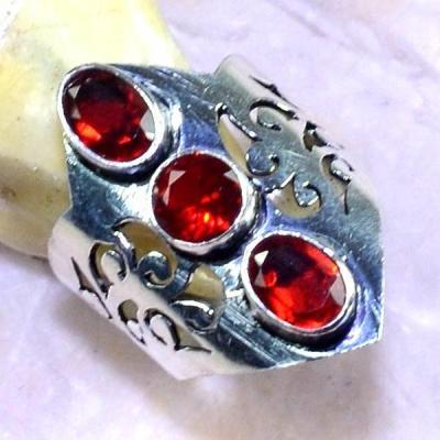 Gr 0532b bague medievale renaissance t57 grenat mozambique bijou argent 925