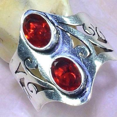 Gr 0538b bague medievale renaissance t57 grenat mozambique pierre lune bijou argent 925