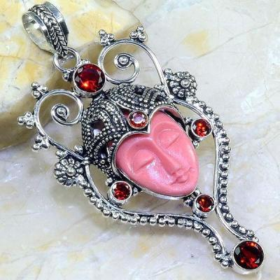 Gr 0559a pendentif bouddha grenat gothique steampunk achat vente bijou esoterique argent 925