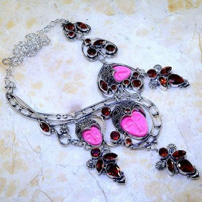 Gr 0567a collier parure bouddha grenat mozambique achat vente bijou esoterique argent 925