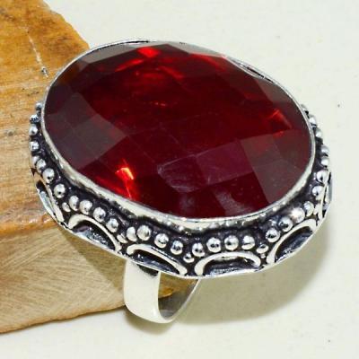 Gr 0572b bague chevaliere episcopale medievale t57 grenat mozambique bijou argent 925