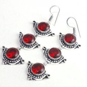 Gr 0614e boucles oreilles grenat achat vente bijoux argent 925