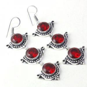 Gr 0614f boucles oreilles grenat achat vente bijoux argent 925