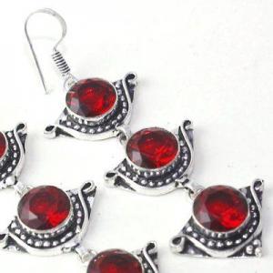 Gr 0614g boucles oreilles grenat achat vente bijoux argent 925
