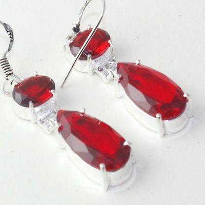 Gr 0617g boucles oreilles grenat achat vente bijoux argent 925